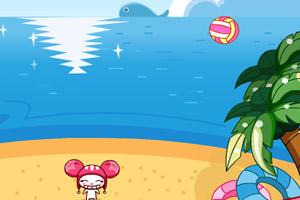 帽帽鼠沙滩躲避球
