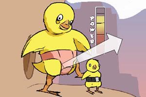 可爱火箭小鸡