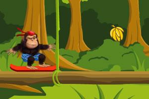 大猩猩玩滑板