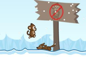 小猴子接香蕉