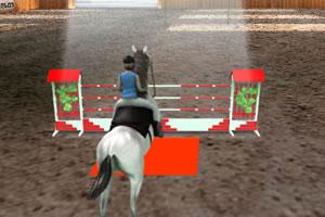 3D女孩骑马