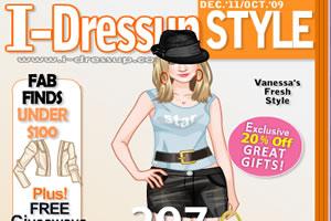 时尚的杂志模特