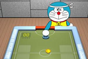 和机器猫玩冰球