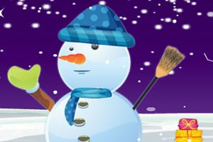 可爱雪人装扮