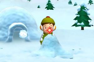 雪地里的大战