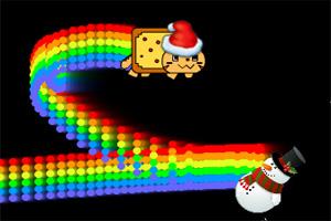 圣诞霓虹猫
