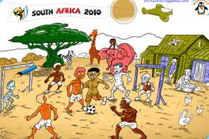 南非世界杯填色