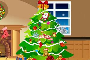 装饰漂亮圣诞树