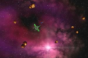 战机击落陨石
