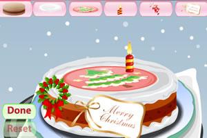 可口圣诞蛋糕