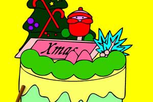 圣诞蛋糕填色