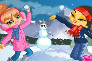 阿拉斯加打雪仗
