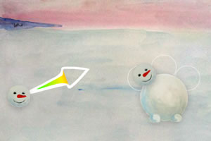 趣味堆雪人