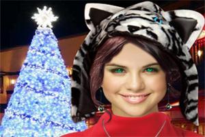 明星赛琳娜的圣诞装