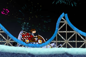 新年火箭过山车