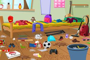 收拾脏乱房间