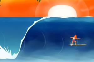 野人疯狂冲浪