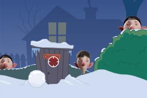 亚瑟圣诞打雪仗