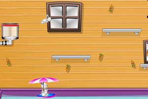 班尼兔撑伞