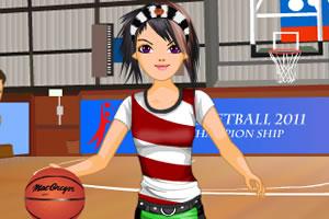 装扮女篮队员