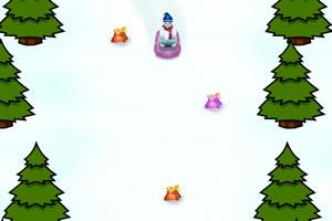 圣诞雪人滑雪