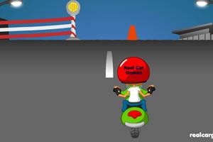 小孩骑摩托