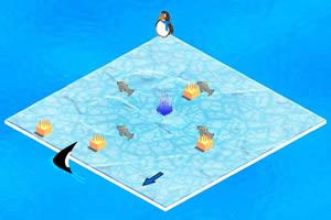 企鹅冒险吃鱼