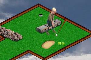 3D老年人高尔夫