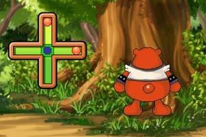 小熊推倒树