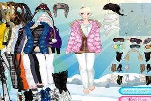 滑雪场女生