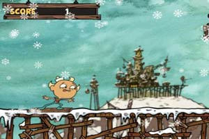 搞笑木板滑雪