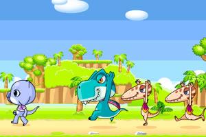小恐龙逃跑