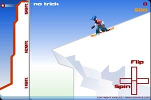 滑板小子跳雪坡