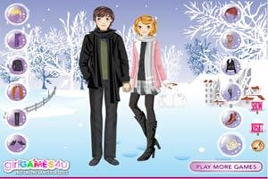 冬季浪漫情侣