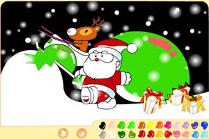 圣诞小鹿写真