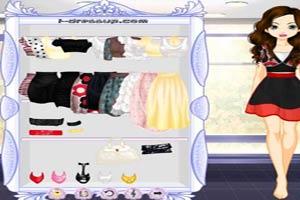 雪纺齐膝裙