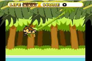 猴子跳跳过河