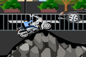警察骑摩托