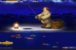 北极熊钓鱼