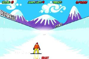 雪道滑雪英雄