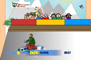 滑雪撬表演