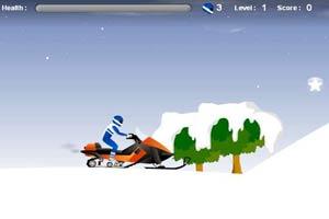 雪上特技摩托车