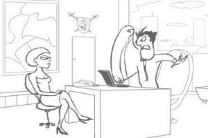 办公室泡女生