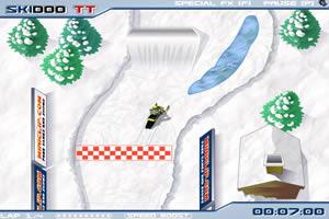 冬日极限滑雪车
