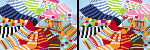花袜子找不同