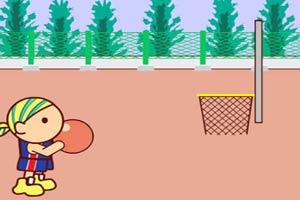 少年练投篮