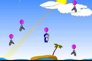机器猫踩气球
