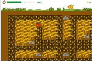 大麦收割机
