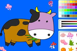 可爱的牛犊