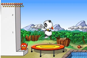 熊猫跳蹦床